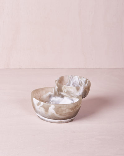 Two Tiered Bowl - Clay Marble by KEEPRESIN