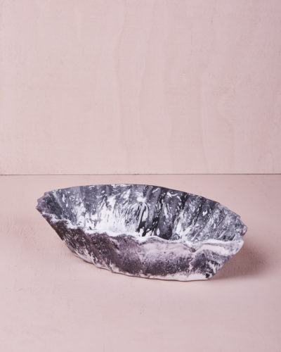 Medium Oval Dish - Ash Marble by KEEPRESIN
