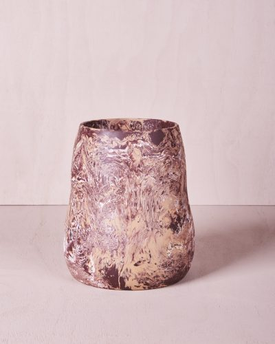 Vase Five - Large - Clay Marble by KEEPRESIN