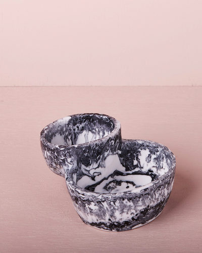 Puddle Bowl - Ash Marble by KEEPRESIN