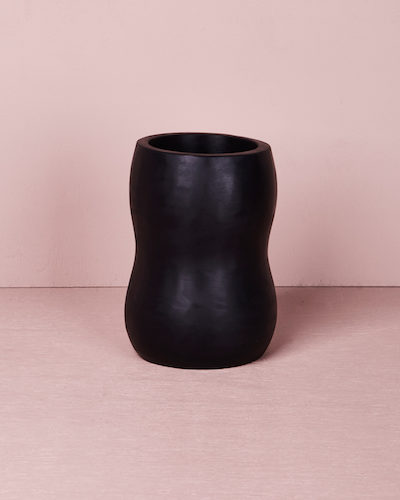 Medium Curvaceous Vase - Slate by KEEPRESIN