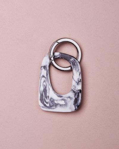 Monument Key Ring - Clear Quartz by KEEPRESIN