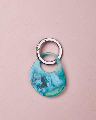 Organic Key Ring - Clear Quartz by KEEPRESIN