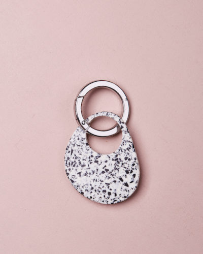 Organic Key Ring - Clear Quartz by KEEPRESIN