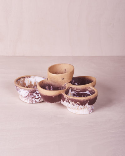 Five Tiered Bowl - Clay Marble by KEEPRESIN