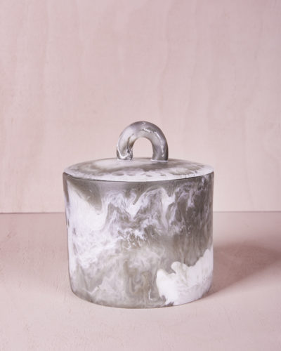 Canister with Lid - Smoke Marble by KEEPRESIN