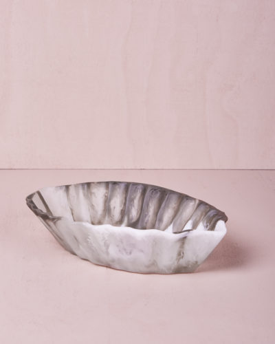 Medium Oval Dish - Smoke Marble by KEEPRESIN