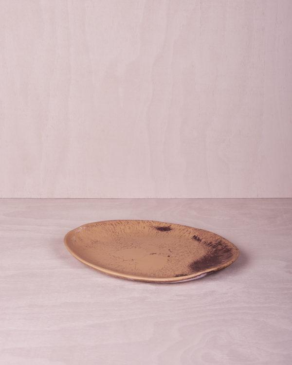 Medium Platter - Clay Marble by KEEPRESIN