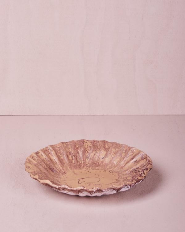 Medium Round Dish - Clay Marble by KEEPRESIN