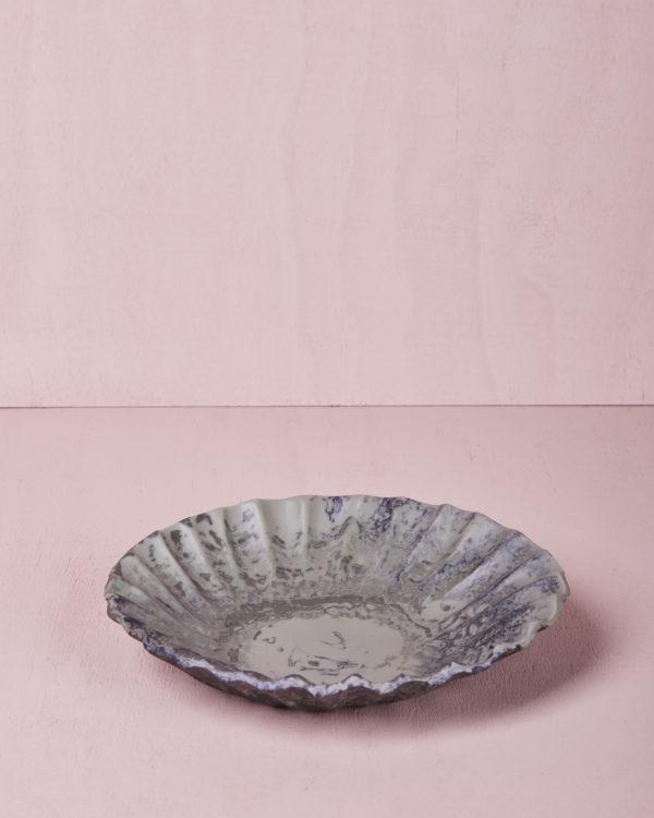Medium Round Dish - Eucalyptus Marble by KEEPRESIN
