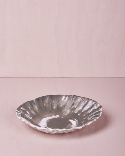 Medium Round Dish - Smoke Marble by KEEPRESIN