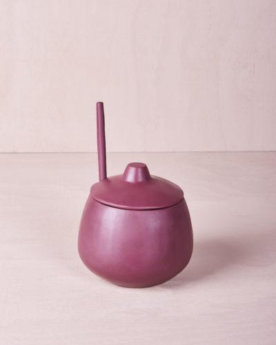 Sugar Bowl and Medium Teaspoon - Pomegranate by KEEPRESIN