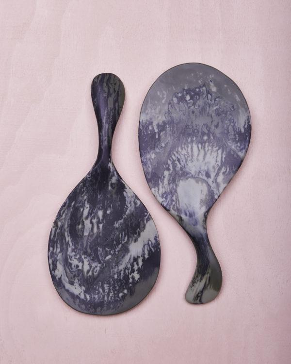 Paddle Salad Servers - Eucalyptus Marble by KEEPRESIN