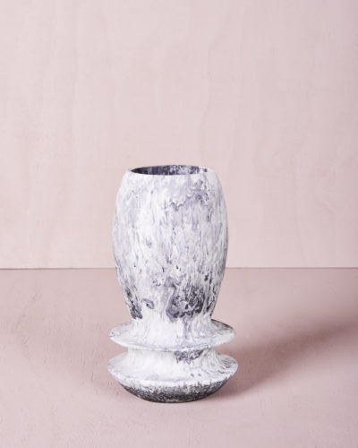 Vase Four - Small - Ash Marble by KEEPRESIN