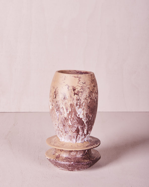 Vase Four - Small - Clay Marble by KEEPRESIN
