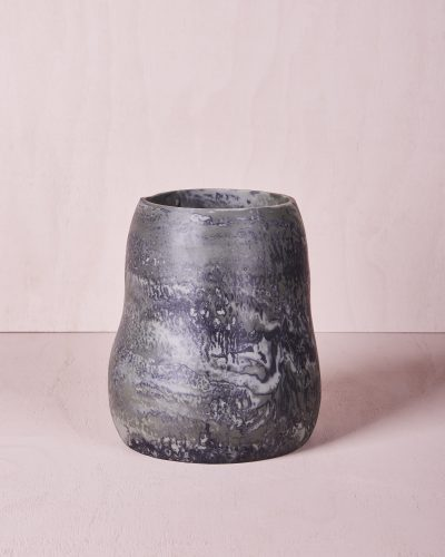 Vase Five - Large - Eucalyptus Marble by KEEPRESIN