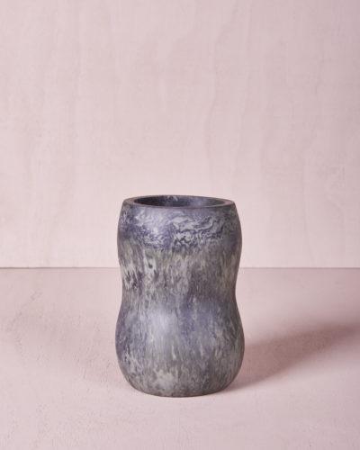 Vase Five - Medium - Eucalyptus Marble by KEEPRESIN