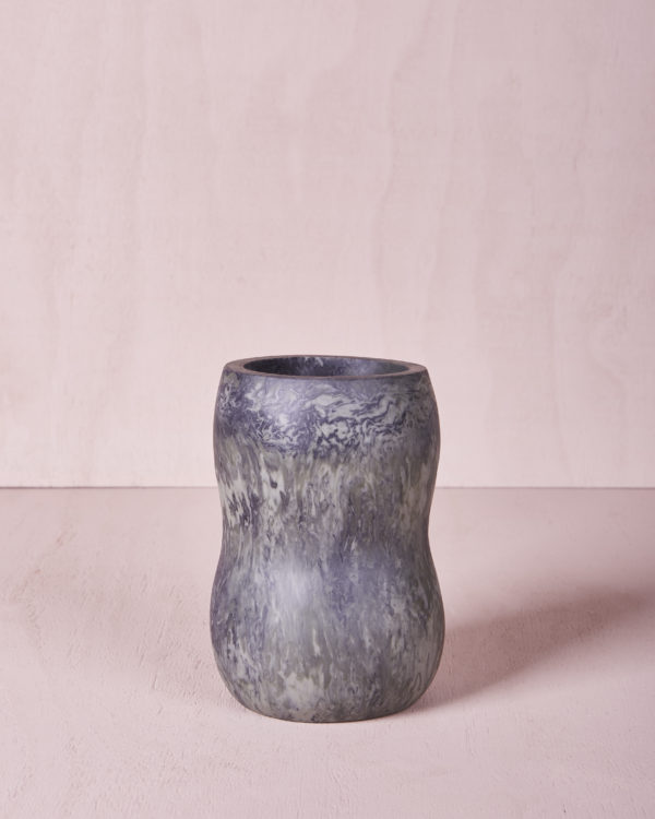 Vase Five - Medium - Eucalyptus Marble by KEEPRESIN