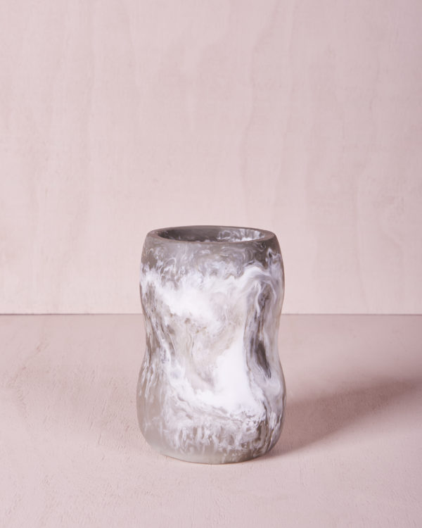 Vase Five - Medium - Smoke Marble by KEEPRESIN