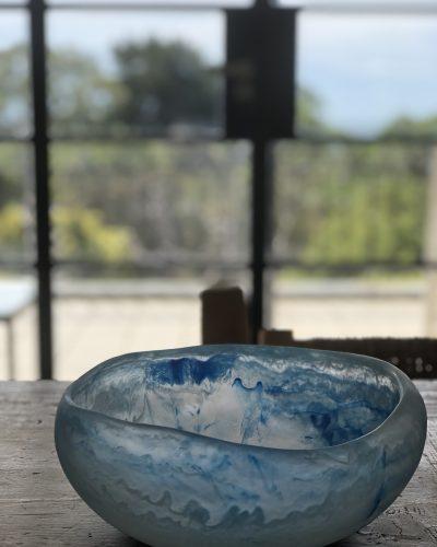 Medium Organic Bowl - Aqua Marine by KEEPRESIN