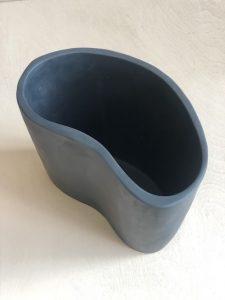 Kidney Vase - Moss Marble by KEEPRESIN