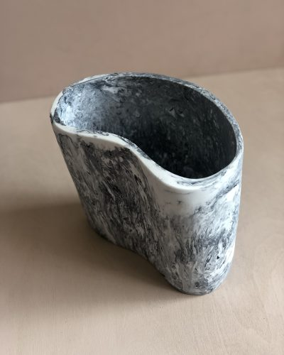 Kidney Vase - Ash Marble by KEEPRESIN