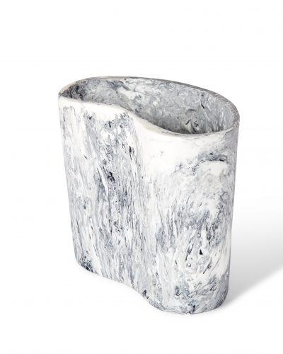 Kidney Vase - Ash Marble by KEEPRESIN