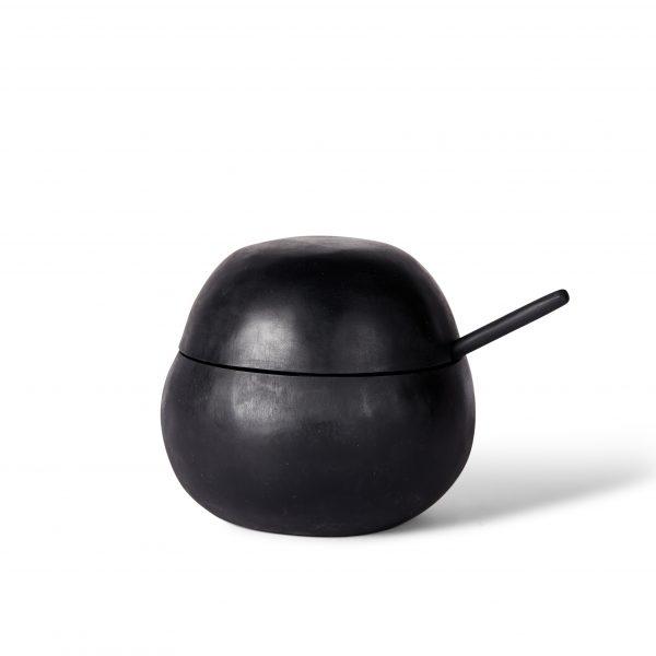 Orb Sugar Bowl + Teaspoon - Slate by KEEPRESIN