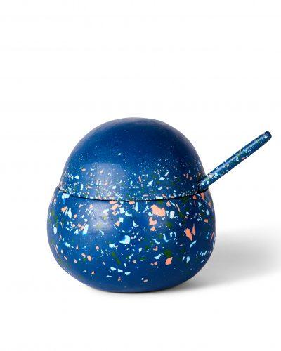 Orb Sugar Bowl + Teaspoon - Modernist Terrazzo by KEEPRESIN