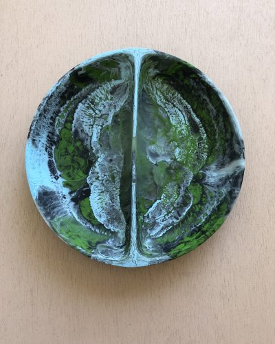 Puddle Salad Dish - Moss Marble by KEEPRESIN