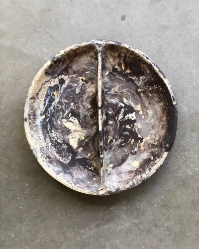 Puddle Salad Dish - Periwinkle Marble by KEEPRESIN